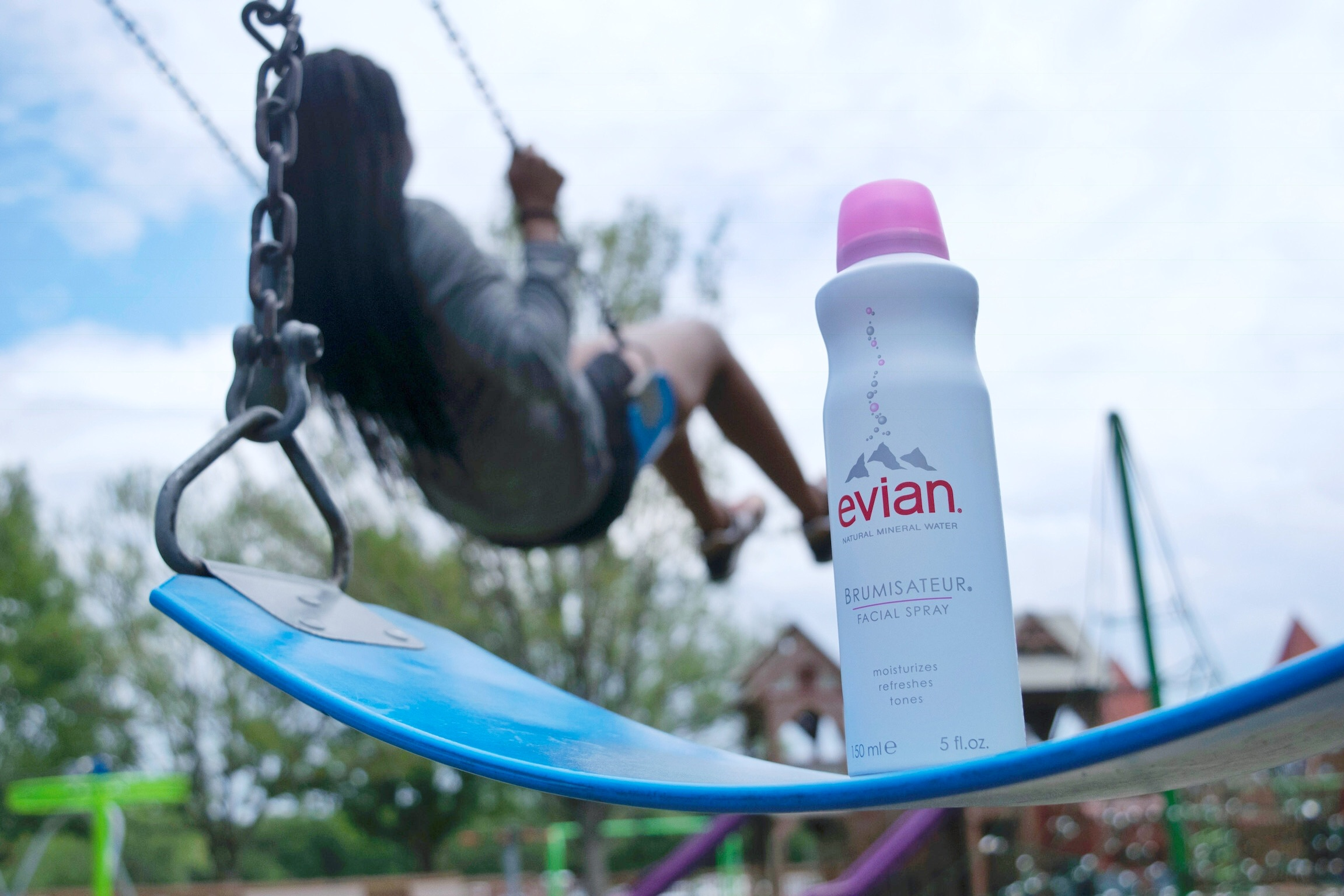 A summer swing with Evian Facial Spray